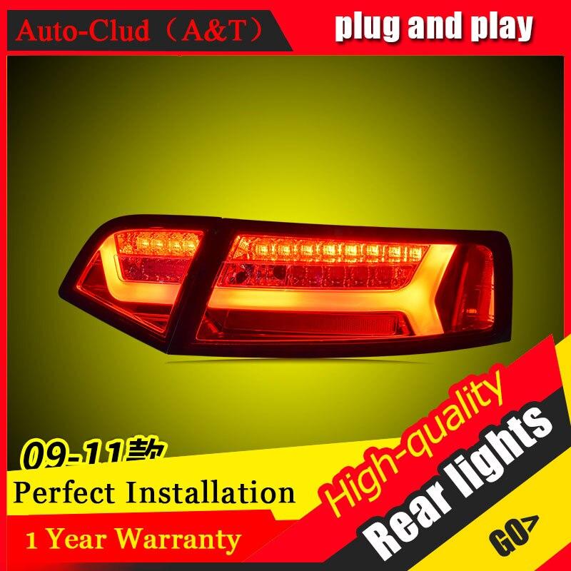 Styling de carro para au di A6L Lanternas Traseiras 2009-2012 para A6L LEVOU Cauda Lâmpada Traseira Da Lâmpada DRL + Freio + parque + Sinal De luzes led