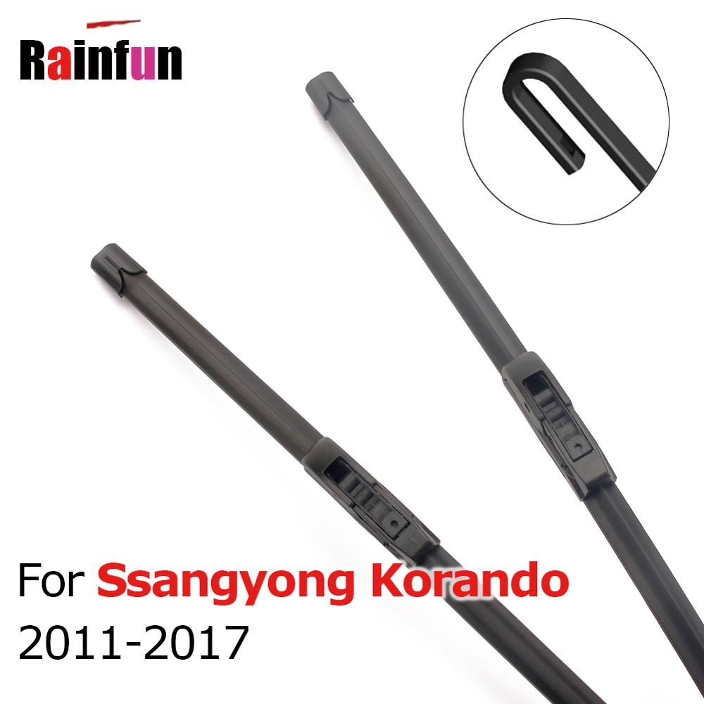 RAINFUN Car Front Wiper Blades for Ssangyong Korando 2011 2012 2013 2014 2015 2016 2017 Windscreen Wipers 24 & 16 inches image