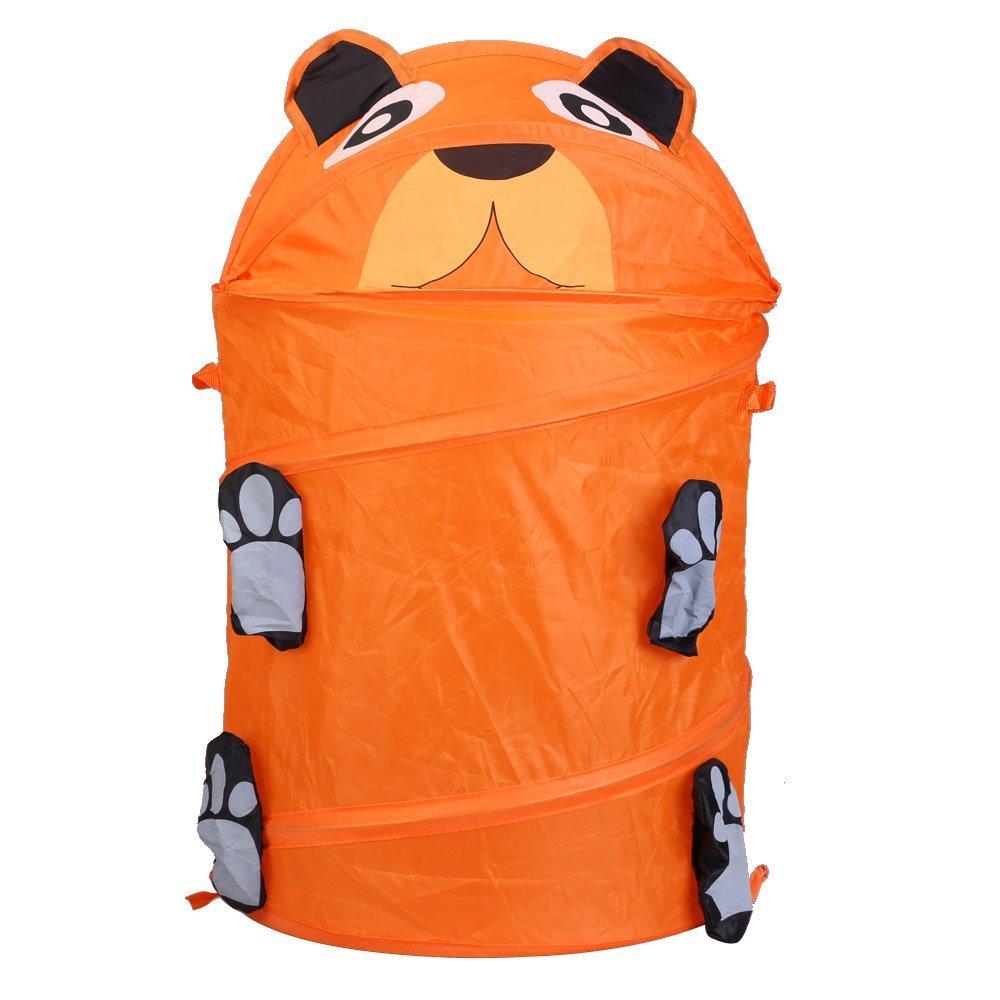 SZS Hot Animal Design Folding Laundry Basket Laundry Bag Laundry Box (Bear Orange)