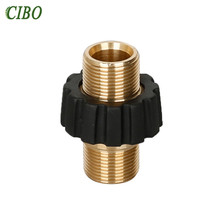 Car washer Hose Quick Connector m22 Metric Hose Fitting Connector for High Pressure Washer Gun and Hose car accessories 2019 New brand new 1 8m 2m whip hose and hose connector 1 4 np gun tip airless hose kit for connection high pressure hose and spray gun