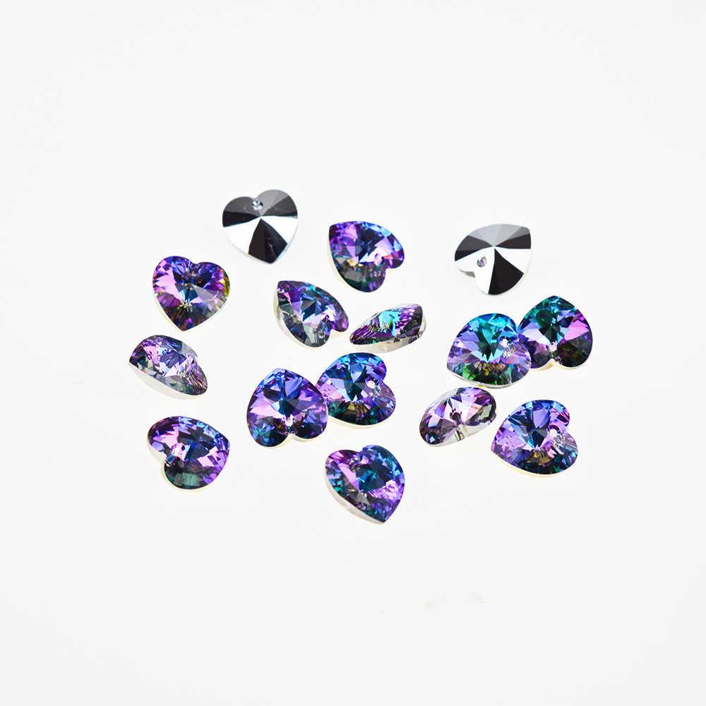 (1 Unidad) Cristal de Swarovski 100% Original, colgante de corazón de XILION 6228, HECHO EN Austria cuentas de diamantes de imitación para hacer joyería DIY