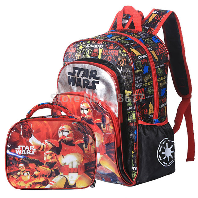 New Star Wars Boys Backpack School Bags With Lunch Set For Kids Children Elementary Primary