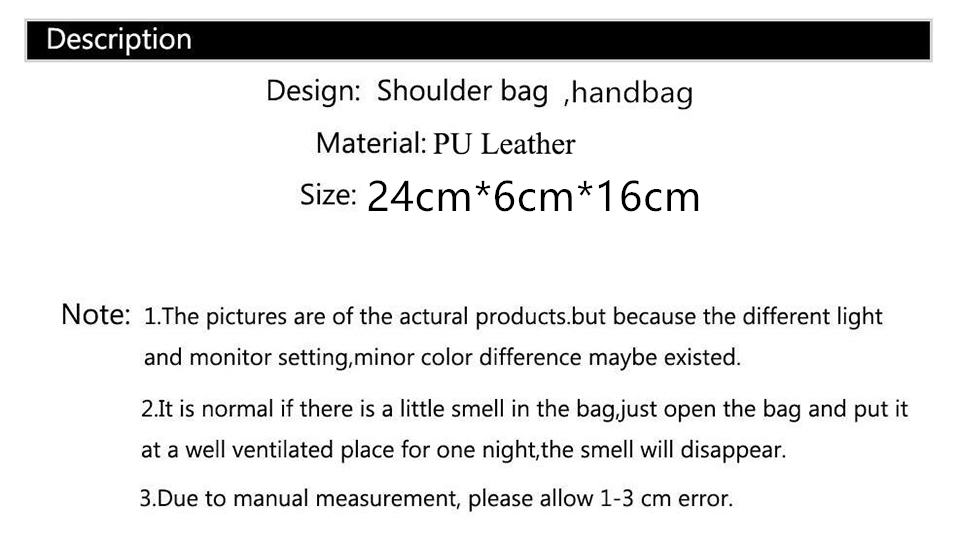 HTB1ZQYCbovrK1RjSszfq6xJNVXaO - Women Bags  Shoulder Bag Fashion Handbag and Purse PU Leather Crossbody Bags for Women  New Black&Red