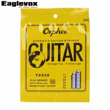 Acoustic Guitar Strings 011-052 inch High-carbon steel hexagonal alloy Orphee TX630