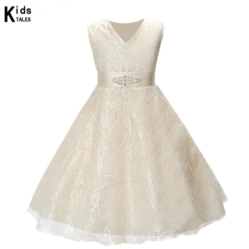Girls Dress Children Wedding Brides Children Gears Celebrations and Parties Princess Lace Costume Girls Clothes Christmas