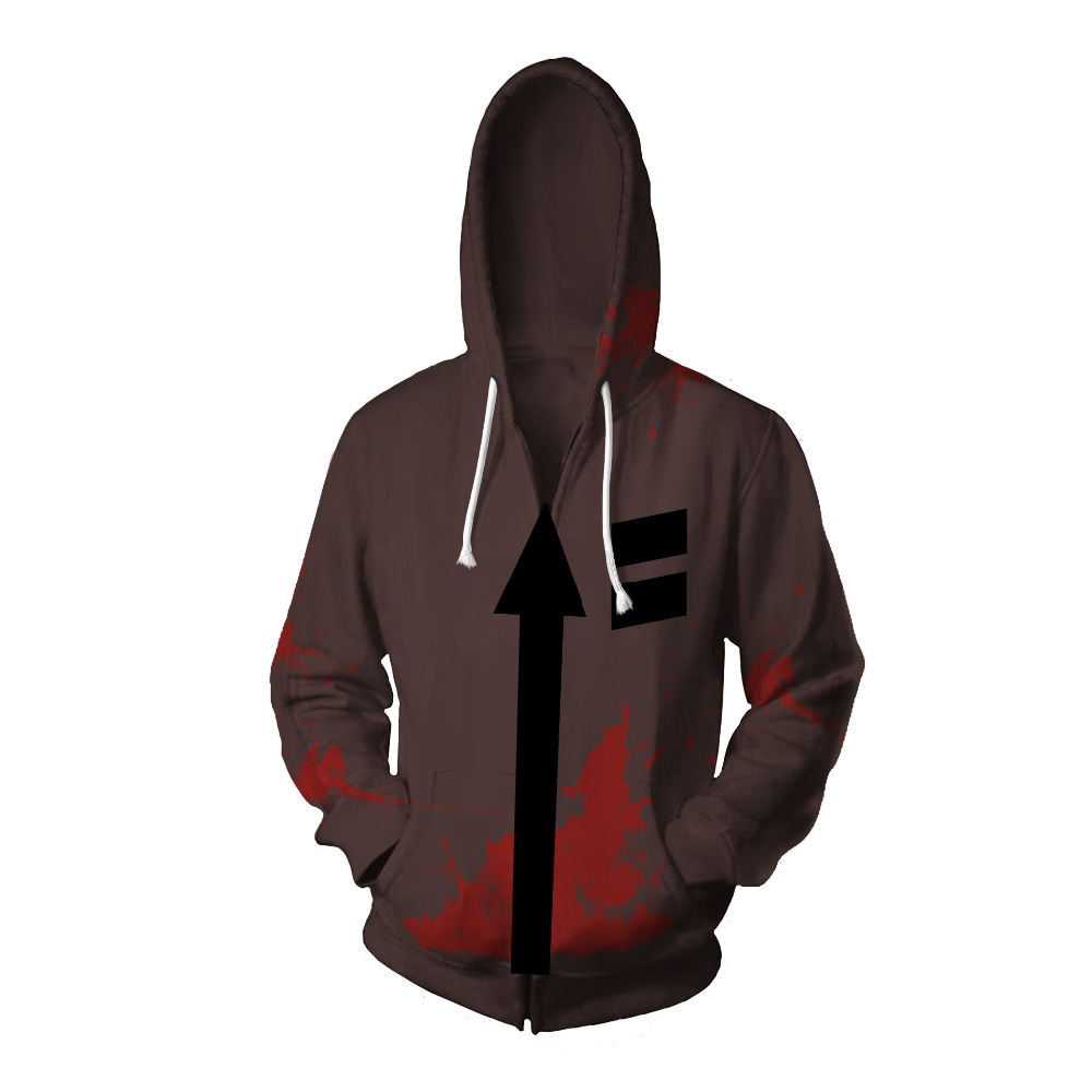 Cosplay Angels of Death Costume Isaac Foster Zack Cosplay Sweatshirts Uniex 3D Printing Zipper Jacket Hooded Sweater Coat Tops