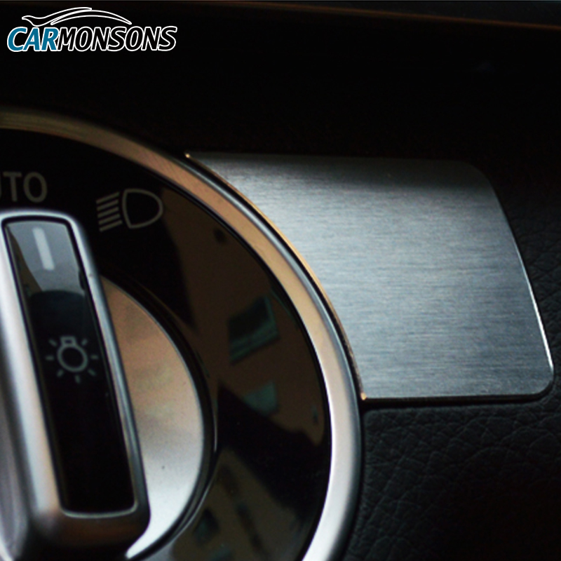 Butang Pelarasan Lampu Carmons Penutup Trim untuk Mercedes Benz A B C - Aksesori dalaman kereta - Foto 4