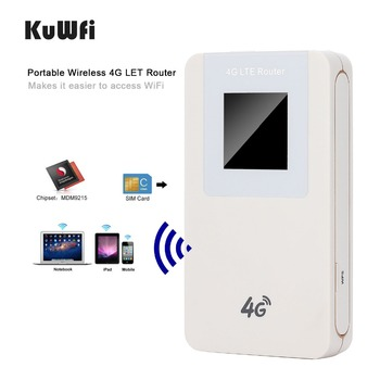 Unlocked 4G LTE Wireless WIFI Router Mini WIFI Router Portable Wireless Modem With SIM Card Slot  4600mAh Battery Power Bank