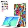Fashion Printed PU Leather Magnetic Case Stand Protective Cover For Samsung Galaxy TAB E 9 6