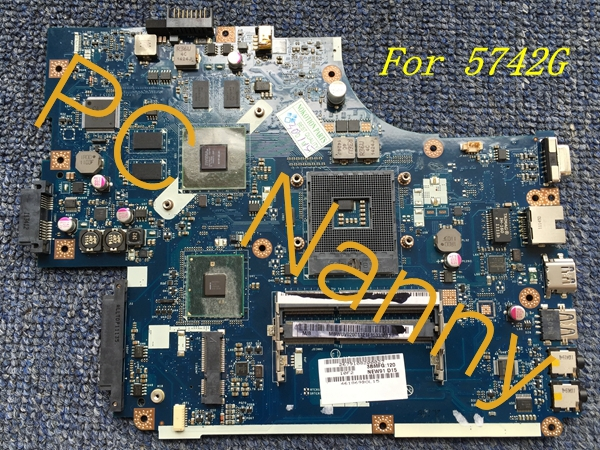 MBWUV02001 laptop motherboard for ACER ASPIRE 5742G LA-5893P HM55 MB.WUV02.001 GeForce GT 420M DDR3 With Graphics!