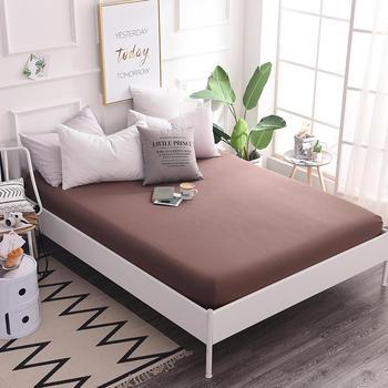 Alta calidad sábana ajustable con banda elástica 100% algodón cama para hotel Home 120*200/150x200/180x200/200x220 cm