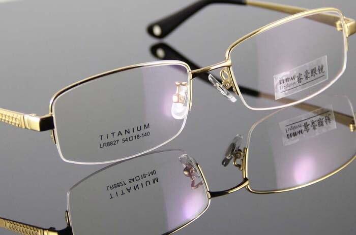 משקפיים חדשים גברים אופנה משקפיים מסגרת 100% טיטניום משקפיים מסגרת גברים קוצר ראייה משקפי קריאה משקפי מרשם.