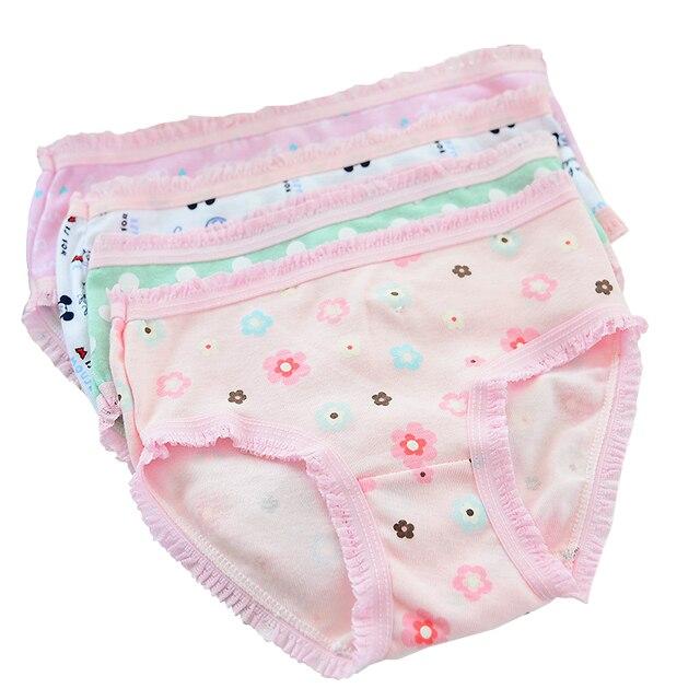 12 Piece Lot Cute Pattern 2-10y Lacy Girls Briefs Organic Cotton Baby Kids 2b7f315eb