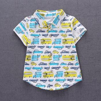 1-4Y 2017 New Fashion Kids Clothes Boys Summer Set Print Shirt Short Pants Baby Boy Clothing Set Toddler Boy Summer Clothes Set