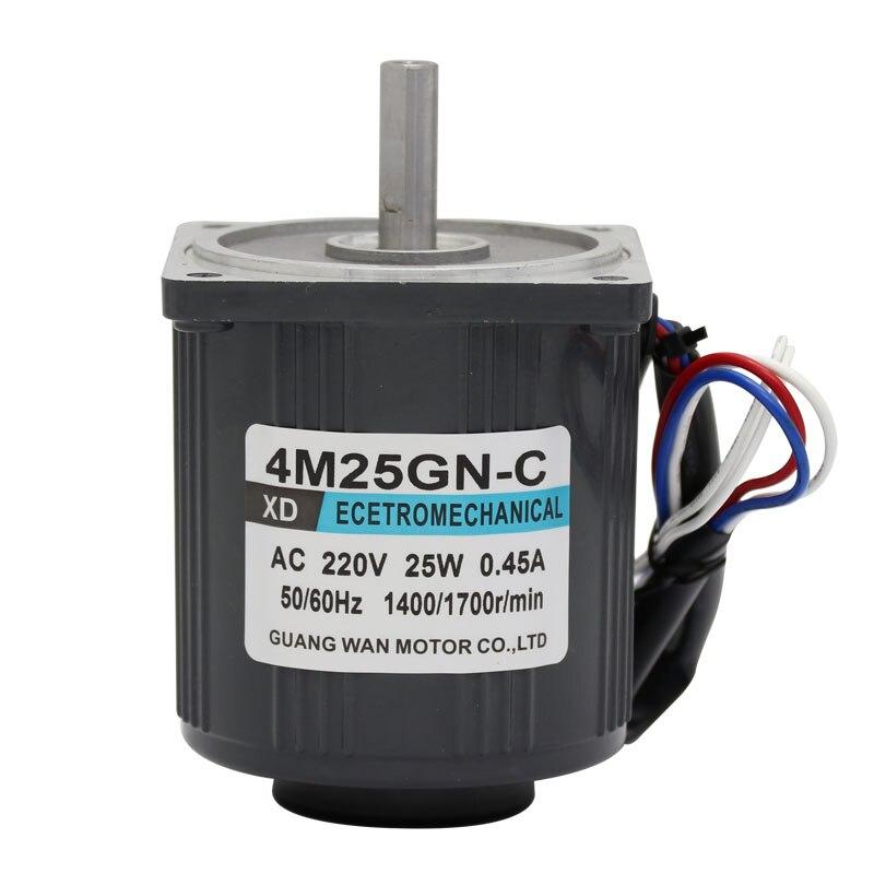 4M25GN CC 220V AC Speed Adjusting Motor, 25W High Torque Motor, 1400 2800RPM High Speed Micro Motor, Single Phase Motor