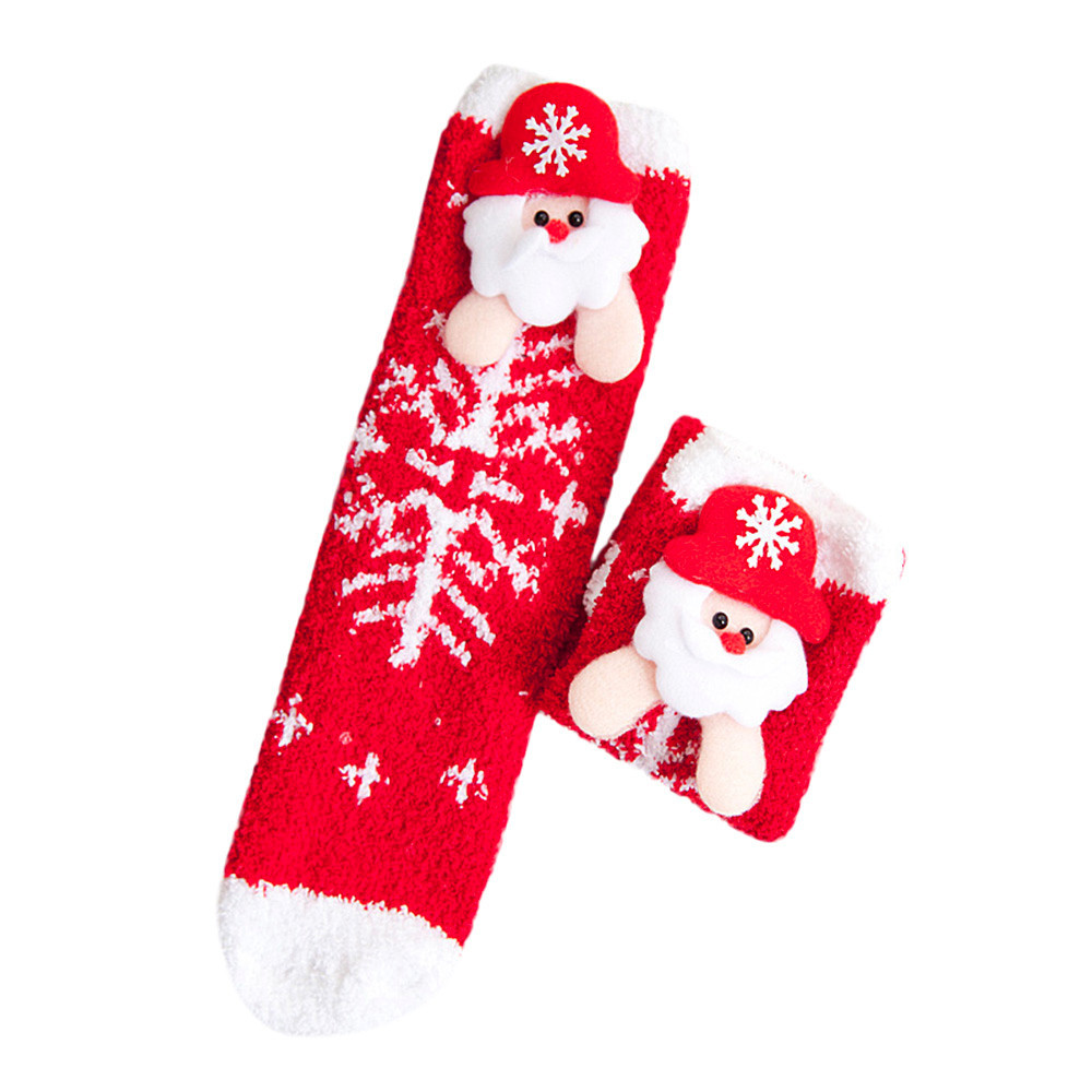 Childrens Socks Spring Autumn Winter Warm Floor Footwear Lovely Family Baby & Mother Cartoon Christmas Casual Gaiters Slippers