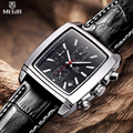 MEGIR Chronograph Function Men's Watch Leather Luxury Men's Top Brand Military Quartz Watches Relogio Masculino /ML2028