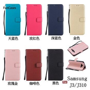 99a24594253 Última Flip teléfono caso de la sFor Celular Samsung J3 suave TPU cubierta  Capa de brillo caja del teléfono para Samsung Galaxy J3 2016 Telefoan