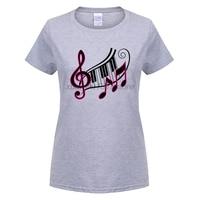 GILDAN Fashion Darr Music Notes T Shirts Women Teenage Music T Shirts 100 Cotton Short Sleeve