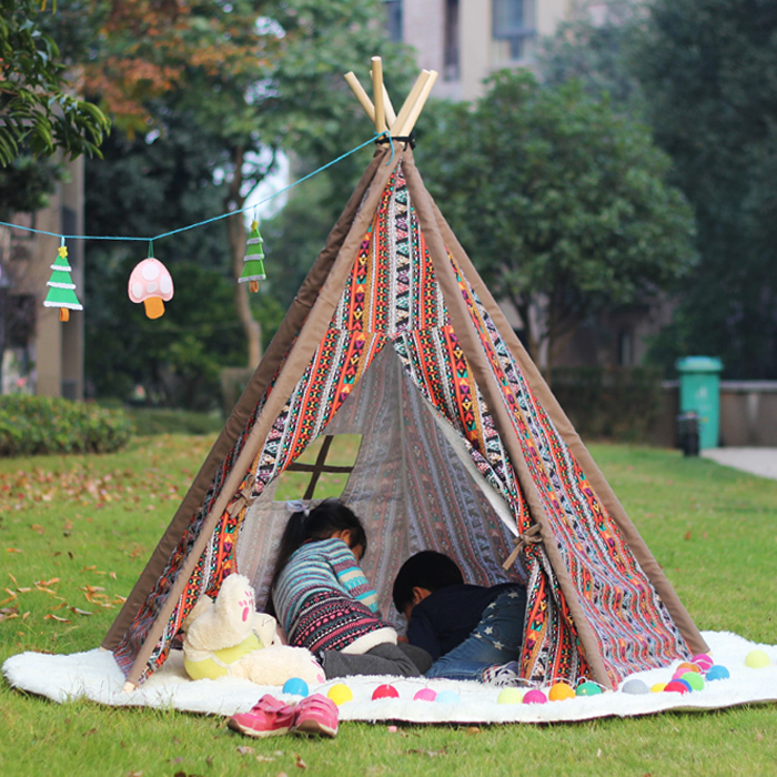 Indian children tent cotton canvas tent play tent in outdoor foldable tent-in Toy Tents from Toys u0026 Hobbies on Aliexpress.com | Alibaba Group & Indian children tent cotton canvas tent play tent in outdoor ...