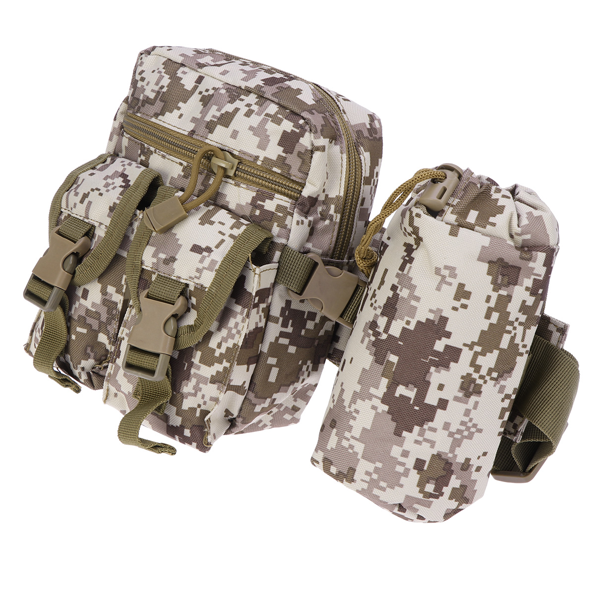 Waist Pack Premium Adjustable Durable Water Bottle Belt Fanny Pack Waist Bag With Bottle Holder For Sports Climbing Outdoor