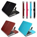 Pu Leather Folio Sleeve Laptop case Briefcase Smart 13.3 15.4 Cover for Macbook Air Pro Retina 11 12 13 15 inch with Touch bar