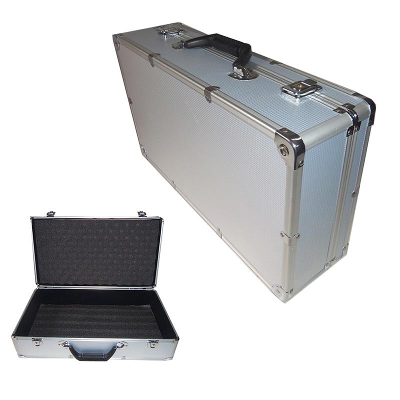 510*280*135mm Toolbox Aluminum Tool Box Portable Instrument Storage Case With Sponge Lining Handheld Impact Resistant Suitcase