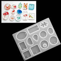 Newly 127Pcs Resin Casting Silicone Mold Kit Making Jewelry Mould DIY Craft for Keychain Pendant Bracelet MK