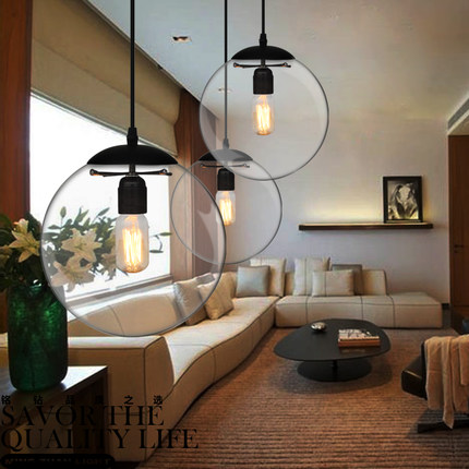 цена free shipping Pendant Lights lamp Crystal ball bar coffee living room clear glass ball pendant glass ball pendant lamps GY69