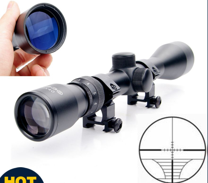 3 9x40 Hunting Scope Riflescope Mil Dot Air Air Riflescope Gun riflescope/Air Optics Sniper Hunting Scope With 20mm Rail Mount