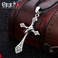 High quality Free give rope Beier 925 silver sterling trendy cross pendant necklace for gift fashion jewelry  BR925A021