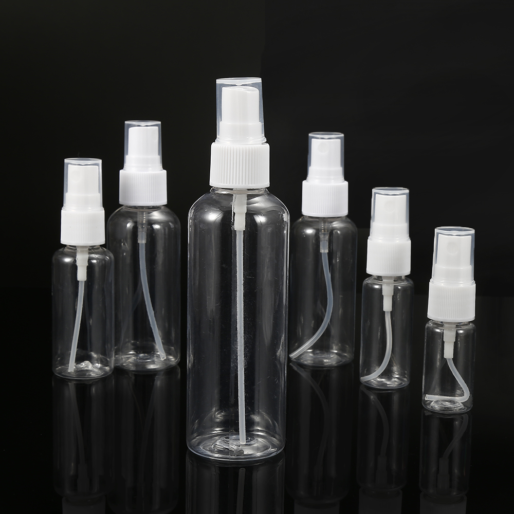 цена на 5PCs 100ml Clear Empty Plastic Sprayer Container Refillable Cosmetic Atomizer Essential Oil Perfume Travel Bottle