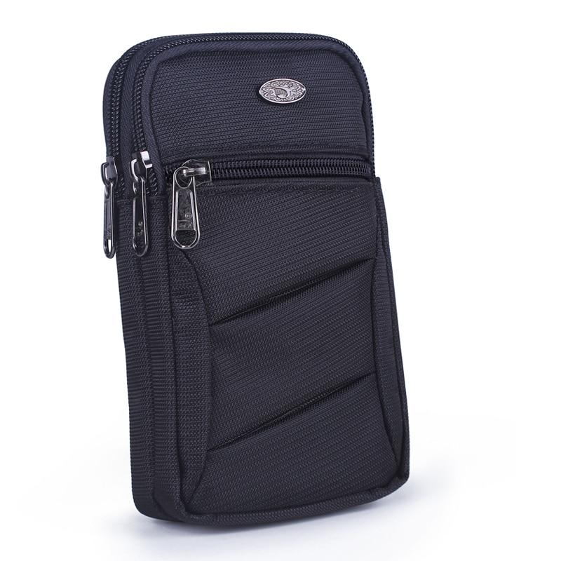 Unisex Cell Mobile Phone Case Fanny Pack Bag Men Women Small Messenger Shoulder Nylon Hook Cross Body Belt Waist Bag