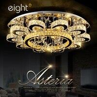 Pokój dzienny świeci kryształ Światła Led sufit sypialnia Proste nowoczesne oświetlenie osobowości Twórczej