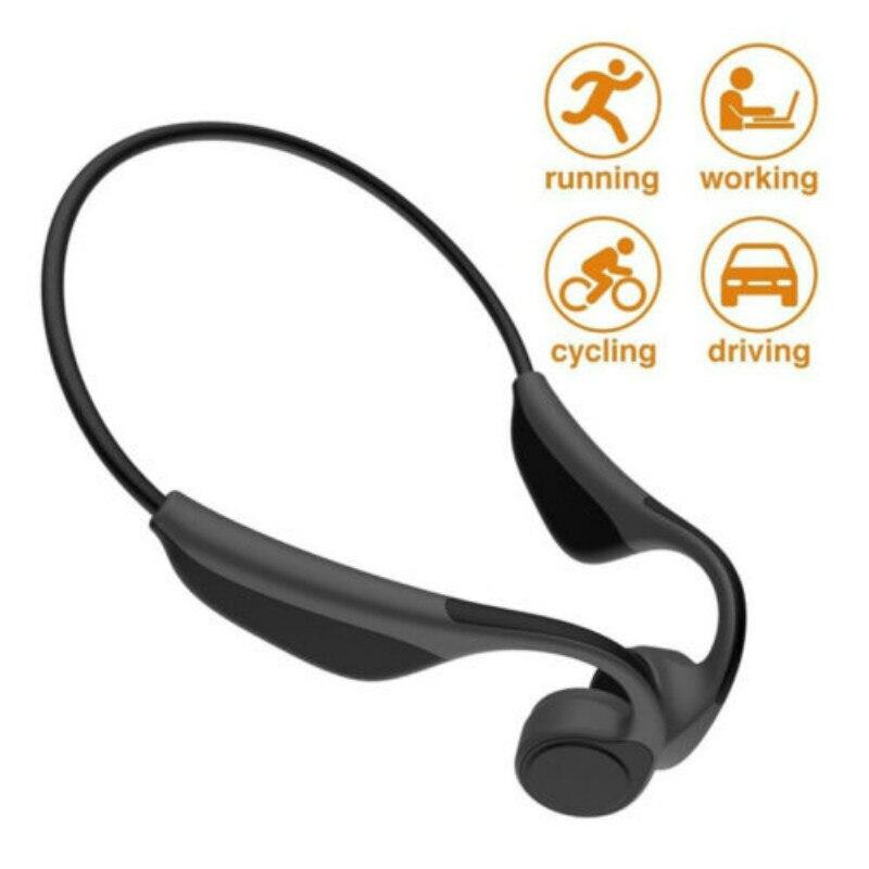 Open Ear Bluetooth Wireless Bone Conduction Headphones Stereo Headset w Mic