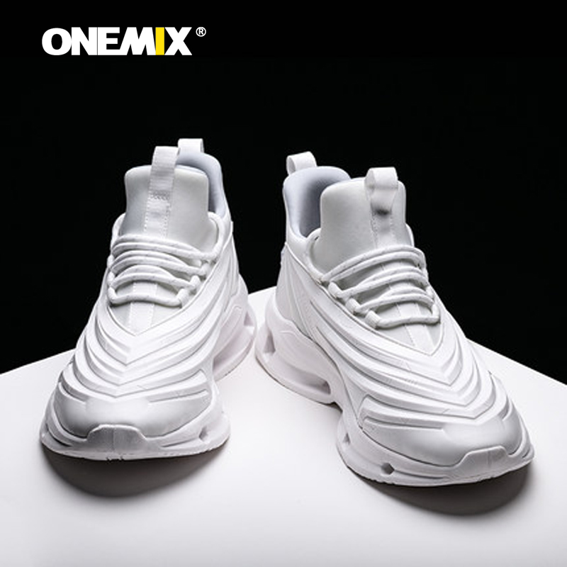 Onemix Men Running Shoes Sports Shoes Shock Absorption Cushion Sneakers Casual Outdoor Shoes Jogging Shoes Max EUR39-47