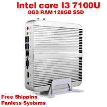 Мини-ПК Intel 7e Gen Кабы Lac Windows 10 i3 7100U 8 ГБ ОПЕРАТИВНОЙ ПАМЯТИ 128 ГБ SSD Графический 620 300 М Wi-Fi TV Box Бесплатная Доставка usb 3.0