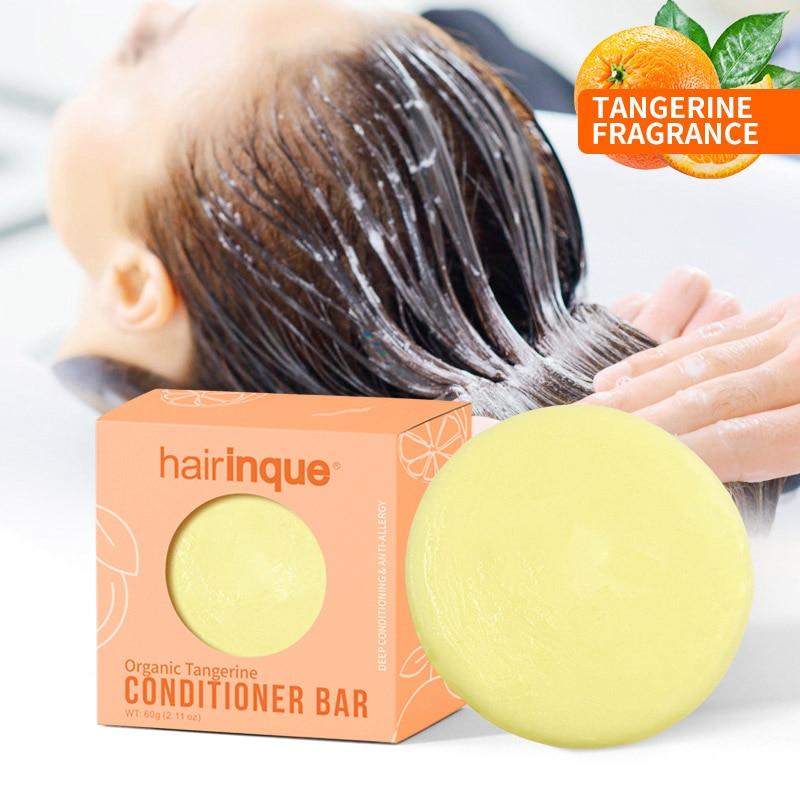 Handmade Nourishing Hair Conditioner Soap Organic Hair Tangerine Bar Vitamin C Moisturizing Hair Care
