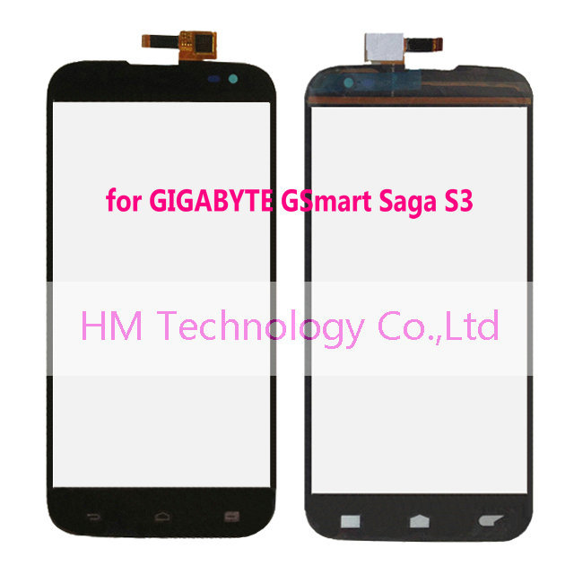 Black Touch Screen Digitizer GIGABYTE GSmart Saga S3 /6.0 inch Panel LCD Smartphone Replacement Free HK Post+Code+Tools - HM Technology Co.,Ltd store