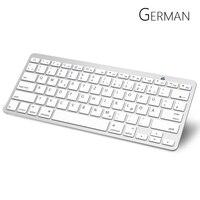 German Bluetooth Keyboard With QWERTZ Layout Wireless Keyboard For Apple IPad IPhone Samsung Ordinateur Portable
