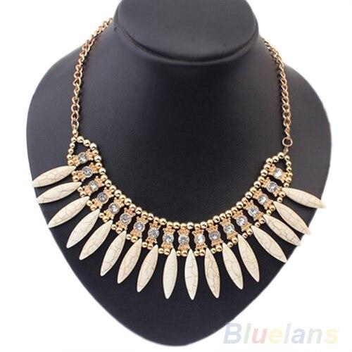 Femmes mode frange goutte rétro belle Occident Style cristal exquis gland collier 01CA 3