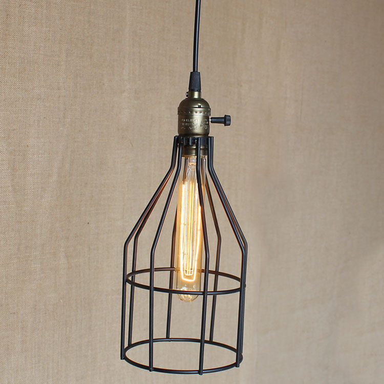 Retro Pendant Light Vintage Industrial Lighting Bar Cafe Bedroom Restaurant Nordic Style Bird Cage Iron Hanging Light WPL101 new loft vintage iron pendant light industrial lighting glass guard design bar cafe restaurant cage pendant lamp hanging lights