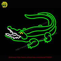 Crocodile Neon Sign Neon Bulb Xboxx Glass Tube Handcrafted Recreation Store Iconic Sign Flashlight Indoor Neon