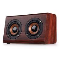 High Quality Fashion FM Radio Wooden Bluetooth Speaker AUX Audio Loud Bluetooth Speaker Box Support TF Card