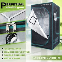 1680D Hydroponics 120x120x200cm(48x48x78) Grow Tent Hydro System 100% Reflective Mylar Grow Tent/Box for Plants
