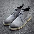 2016 Autumn Famous Brand Retro Men Genuine Leather Casual Shoes Breathable Outdoor Lace-up Men Shoes J594 tenis feminino