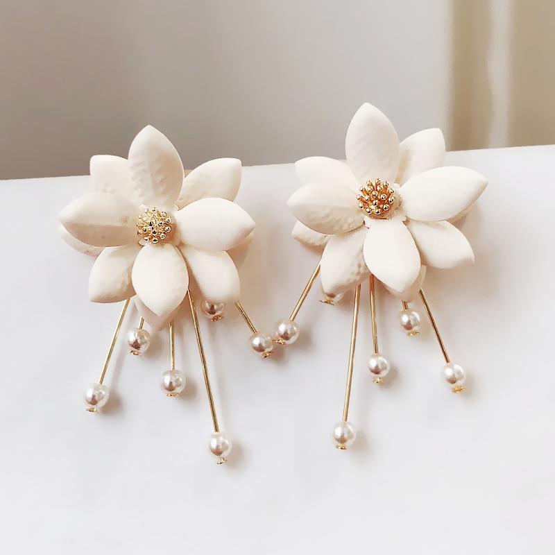 Schmuck & Zubehör Pflichtbewusst Neue Zink-legierung Trendy Pflanzen Frauen Baumeln Ohrringe Blütenblatt Perle Süße Ohrringe Blumen Ohrringe Für Frauen Tropfen Ohrringe