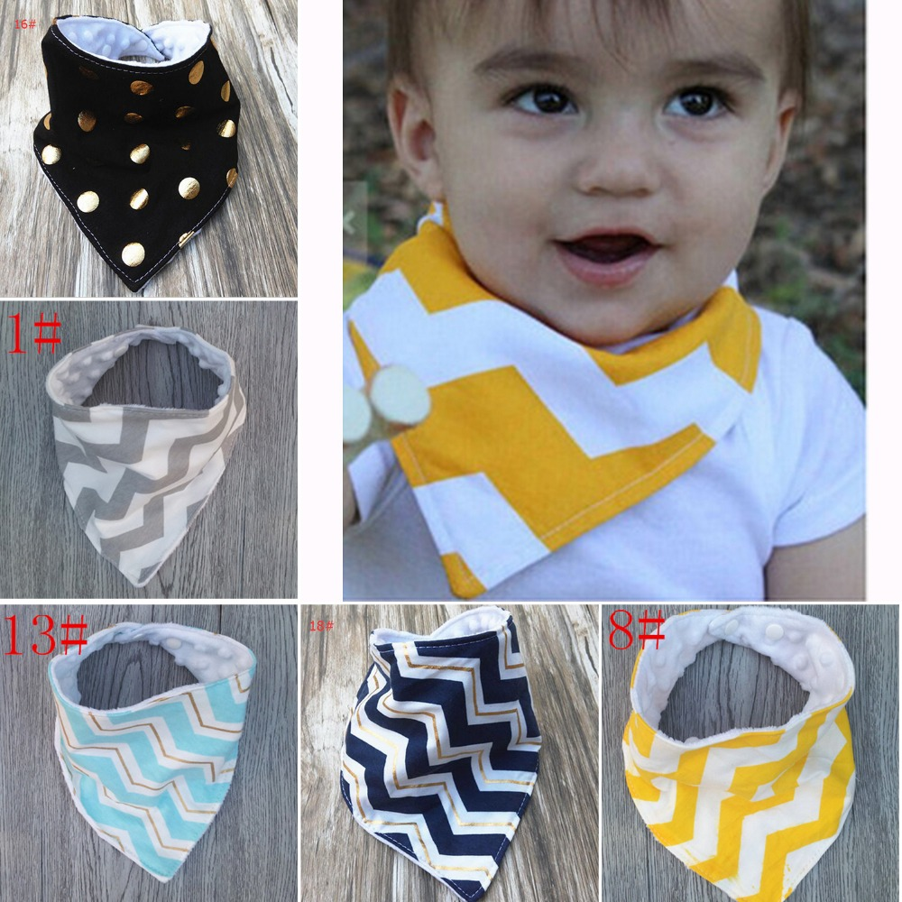 Cotton Baby Bandana Bibs Burp Kids Toddler Triangle Scarf Bib Saliva Towel Q