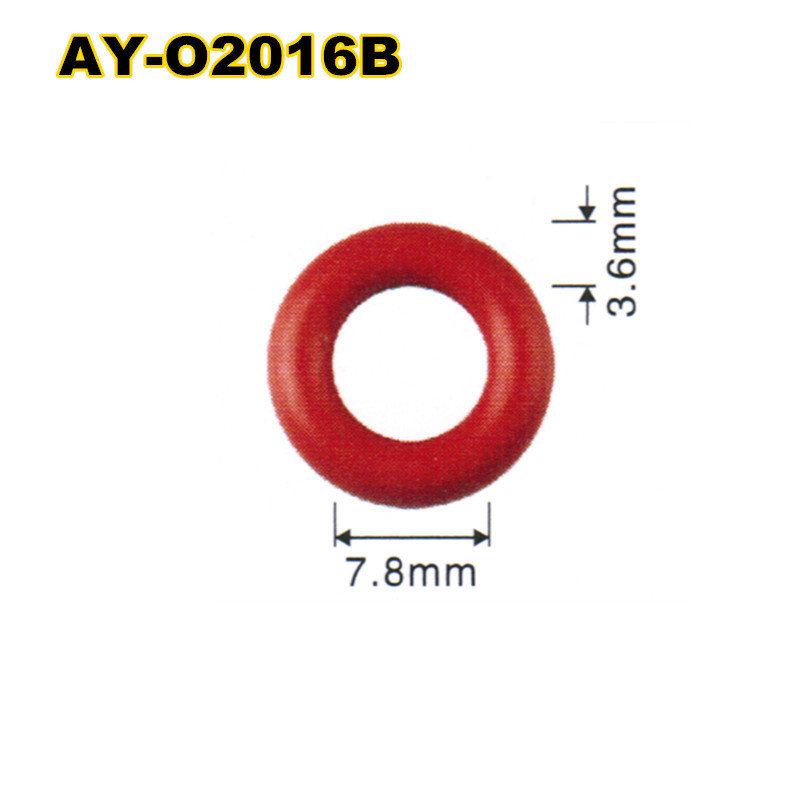 free shipping 1000pieces fuel injector viton oring seals  ID7.8*3.6mmCS  for  nozzle 0280158034(AY-O2016) стоимость