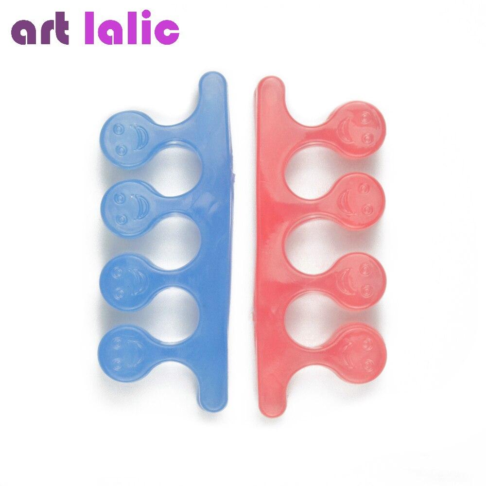 ▽Feliz Cara dedo/forma separador para manicura pedicura herramienta ...